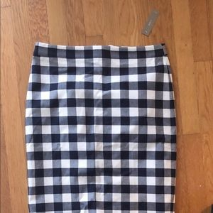 No.2 Pencil skirt in check